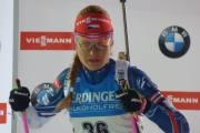 Česká biatlonistka Gabriela Koukalová při sprintu SP v Novém Městě 2016
