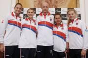Český tenisový tým pro Fed Cup 2017 proti Španělsku