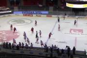 Švédové na Švédské hry - hokej - Česko vs Rusko