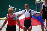 Mirka Knapková se raduje z vítězství na MS 2011