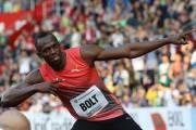 Usain Bolt po loňském vítězství na Zlaté tretře