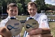 Stříbrní ze závodu SP v Augsburgu 2017 Jonáš Kašpar, Marek Šindler