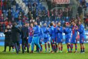 Hráči Viktorie Plzeň slaví vítězství