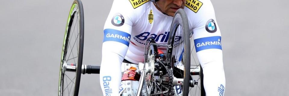Bývalý pilot F1 a současný paralympijský cyklista Alex Zanardi