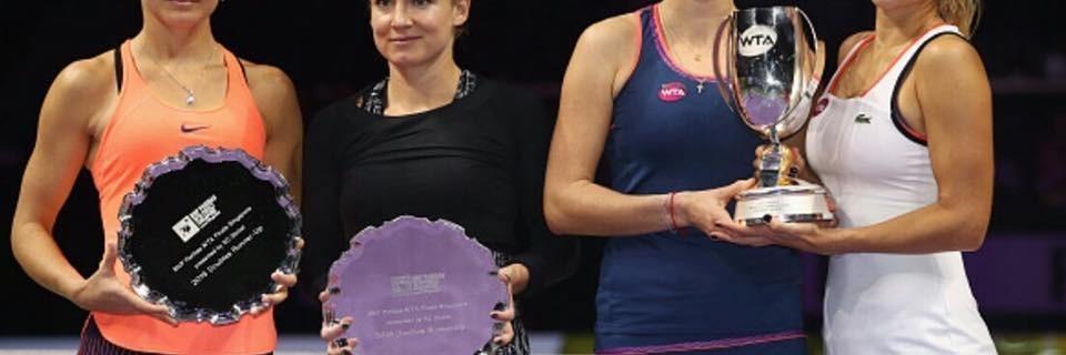 2 nejlepší páry tenisového turnaje Mistryň v Singapuru 2016