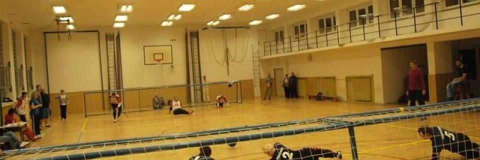 hřiště goalballu - paraolypijský sport - handicpovaný sport