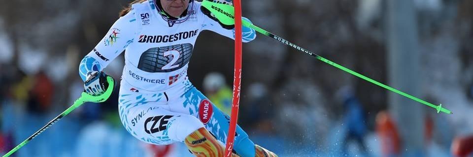 Česká slalomářka Šárka Strachová