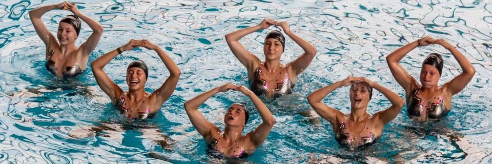 Synchronizované plavání - ilustrační foto