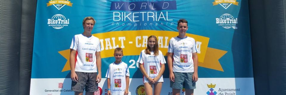Výběr týmu Biketrial Kyjov na španělském Mistrovství světa