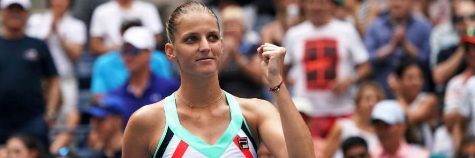 Úleva Karolíny Plíškové po třísetové bitvě ve druhém kole US Open