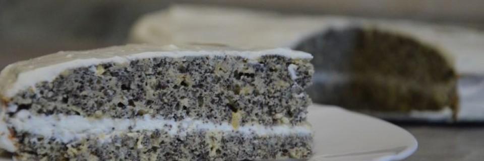 Makový dort s tvarohovou polevou