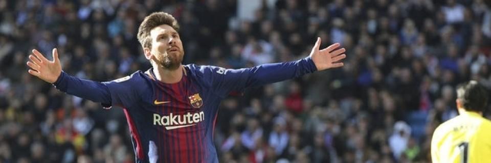 Lionel Messi slaví gól
