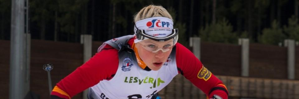 Česká běžkyně na lyžích Barbora Havlíčková při závodě MČR