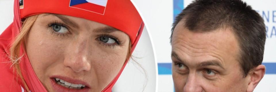 Šéf českého biatlonu Jiří Hamza a česká biatlonista Gabriela Koukalová