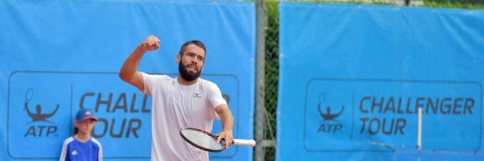 Český tenista Václav Šafránek na turnaji v Liberci