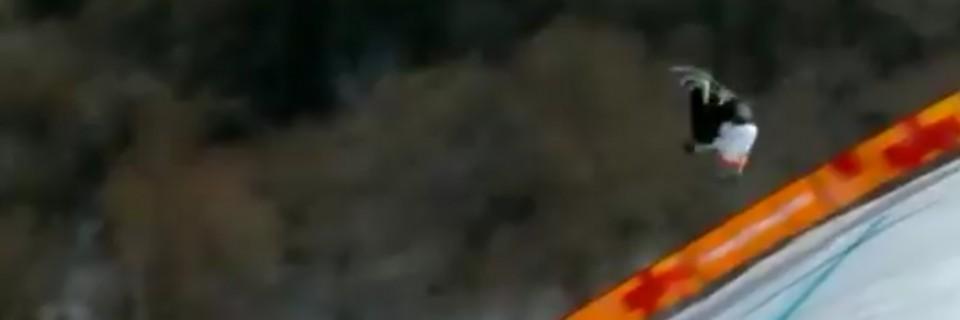 Slovenská snowboardistka Klaudia Medlová a její hrozivý pád na ZOH 2018