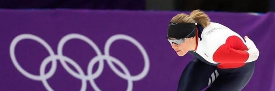 Česká rychlobruslařka Karolína Erbanová během tréninku na olympijských hrách v Pyeongchangu